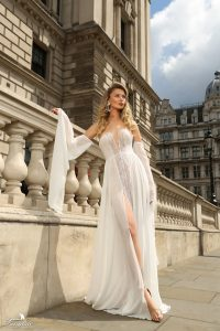 Airy chiffon dress London